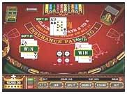 Online casino blackjack table image