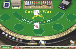 Online casino war table screen image