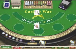 Online casino war table screen image