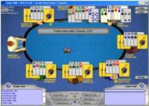 Online seven card stud poker table image