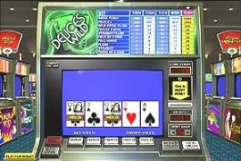 Online video poker machine image